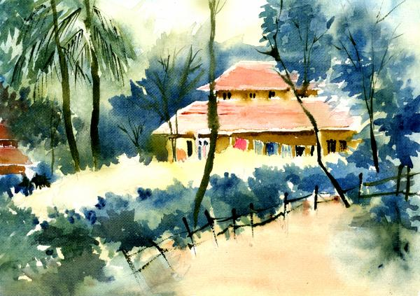 Rest House Painting  - Rest House Fine Art Print
