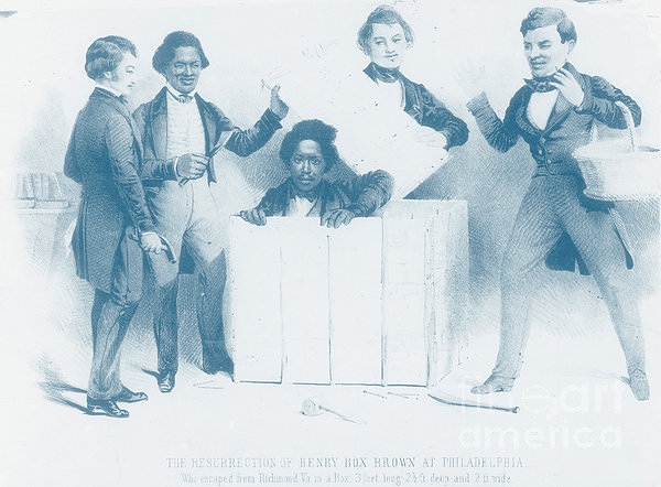Resurrection Of Henry Box Brown Print by Photo Researchers