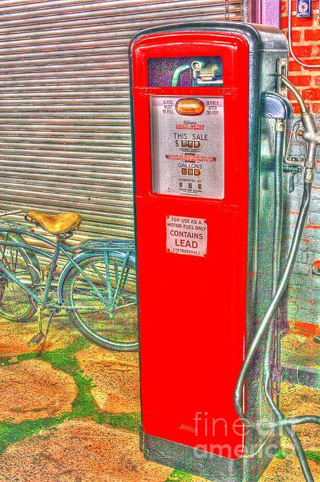 Retro Gas Pump - Color Print by Dan Stone