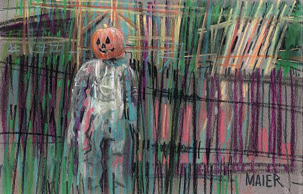 Return Of Pumpkinhead Man Print by Donald Maier