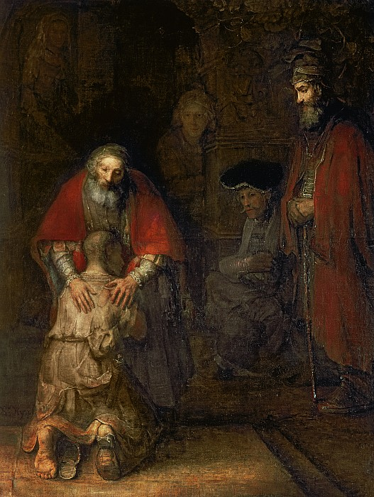 Return Of The Prodigal Son Print by Rembrandt Harmenszoon van Rijn