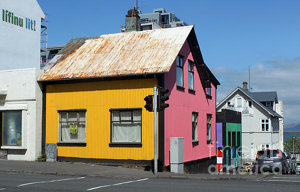 Reykjavik Iceland - Colorful House Print by Gregory Dyer