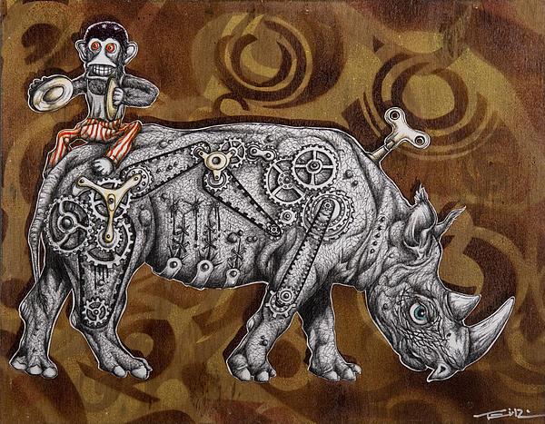 Rhino Mechanics Print by Iosua Tai Taeoalii