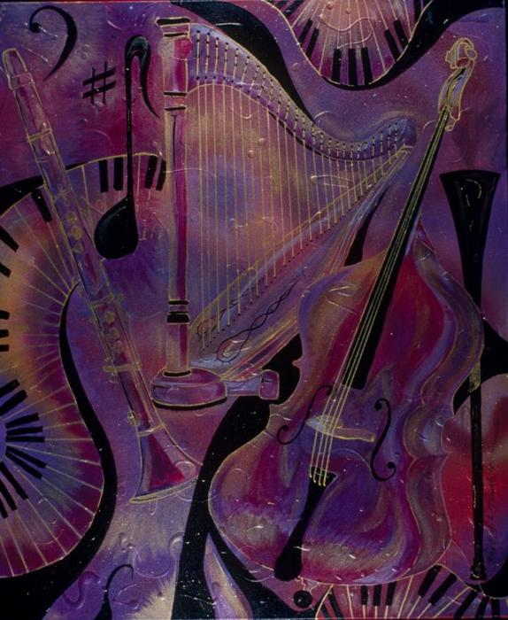 Rhythm And Intrigue 4 Painting  - Rhythm And Intrigue 4 Fine Art Print