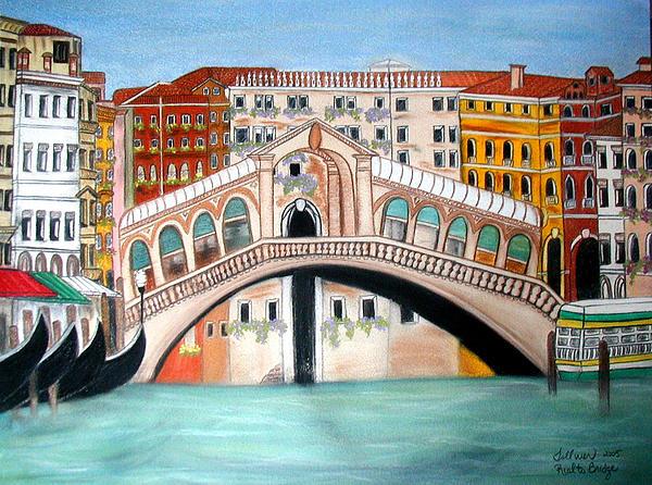 Rialto Bridge Print by Norma Tolliver