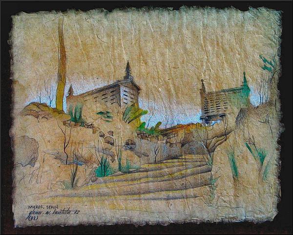 Rice Storage In Muros 1982 Print by Glenn Bautista