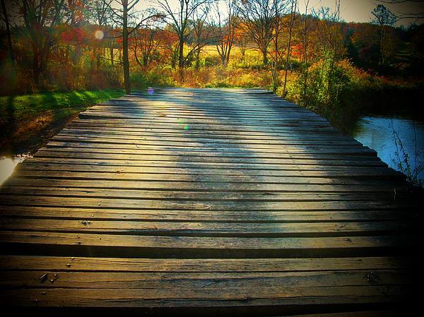 Rickety Bridge Print by Joyce Kimble Smith