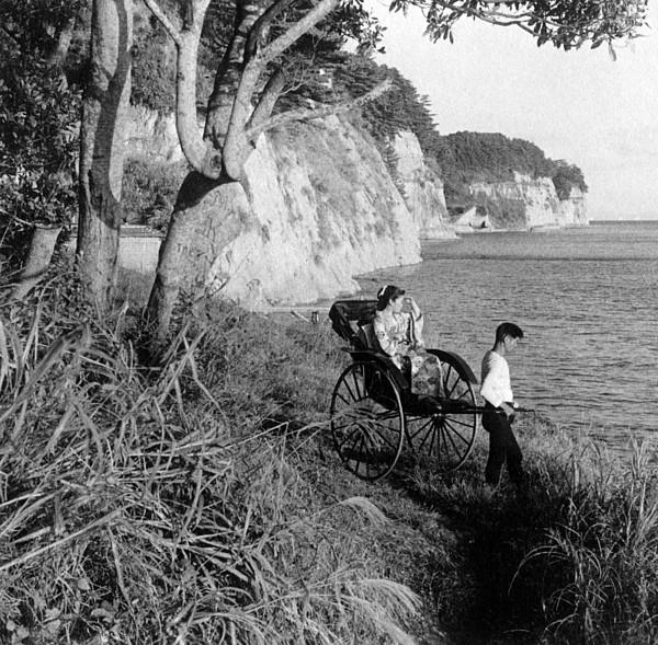 Rickshaw By The Negishi Seashore Print by Everett