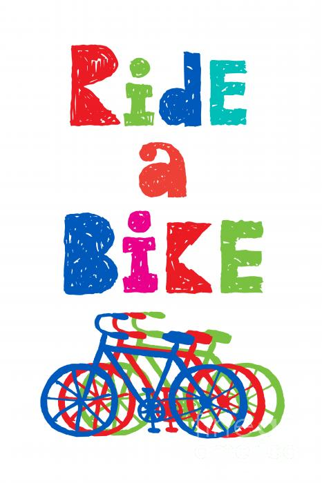Ride A Bike - Sketchy  Print by Andi Bird