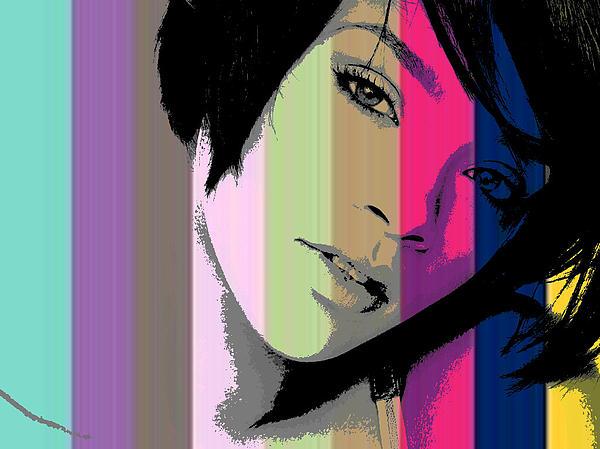 Rihanna 2 Print by Chandler  Douglas