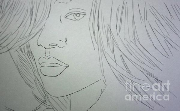 Rihanna Print by Kristen Diefenbach