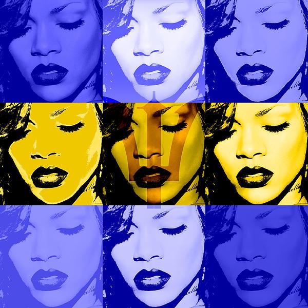 Rihanna Warhol Barbados By Gbs Print by Anibal Diaz