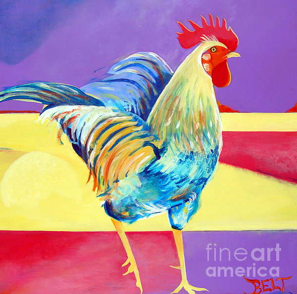 Riley The Rooster Print by Christine Belt