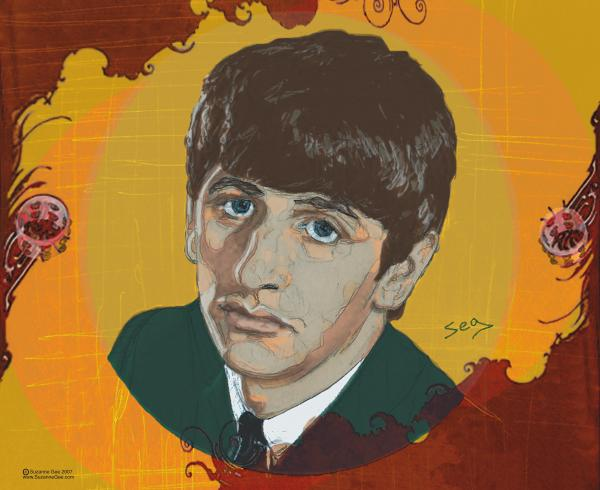 Ringo Starr Print by Suzanne Gee