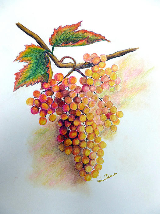 Ripe Muscats Print by Karin Best