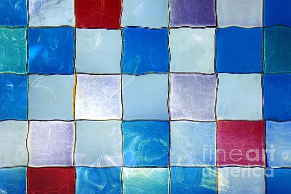 Ripple Tiles Print by Carlos Caetano