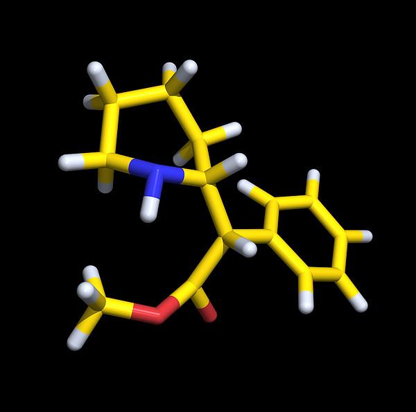 Ritalin Molecule Print by Dr Tim Evans