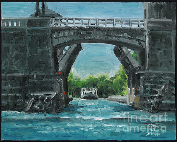 River Charles Print by Rich Arons