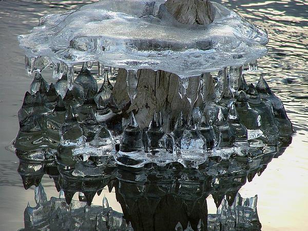 River Ice Print by Dennis Pintoski