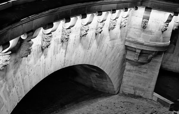 River Seine Bridge Print by Tony Grider