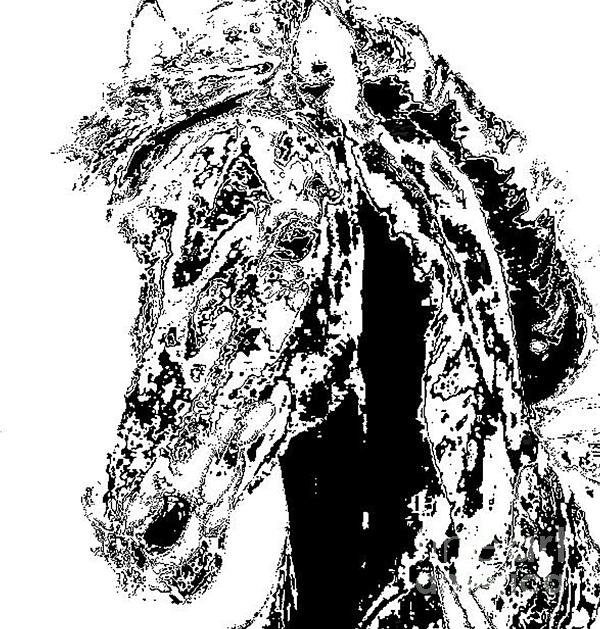 Rivers In A Horse Print by Vicky  Hutton