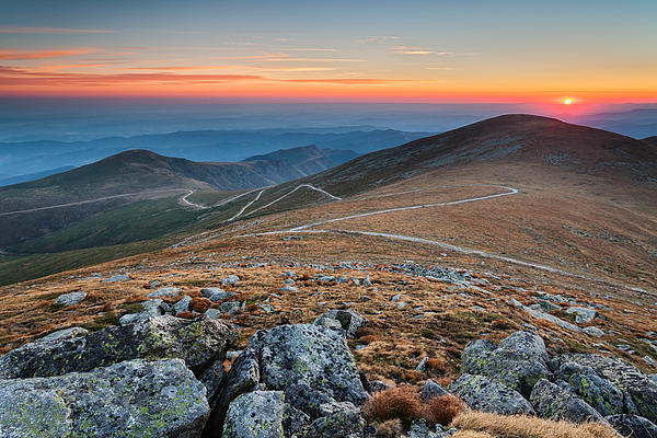 Road To Sunrise Print by Evgeni Dinev