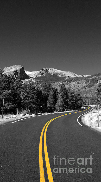 Road To The Rockies Print by Holger Ostwald