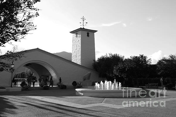 Robert Mondavi Napa Valley Winery . Black And White . 7d9029 Print by Wingsdomain Art and Photography