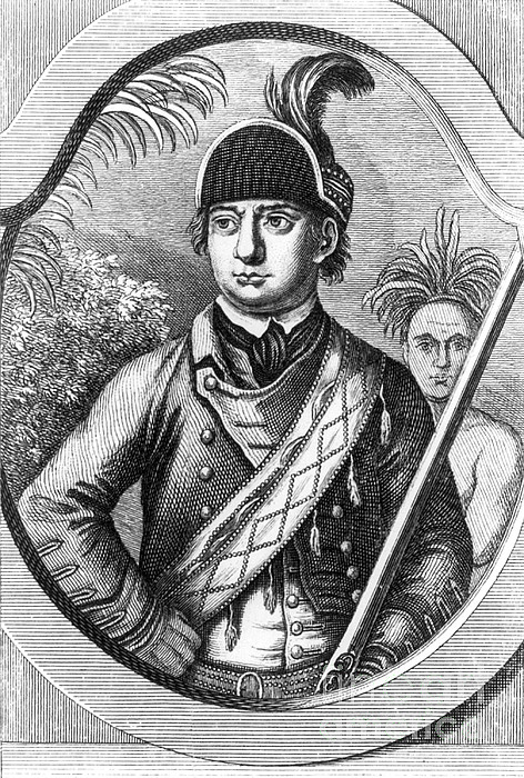 Robert Rogers, Colonial American Print by Photo Researchers