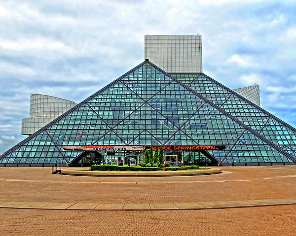 Rock And Roll Hall Of Fame Print by Dave Mills
