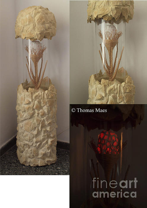 Rock Flower Sculpture