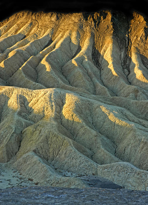 Rock Formations At Death Valley Print by Dave Mills