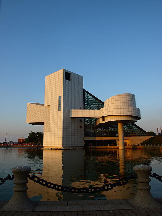Rock Hall In The Evening Print by Allan Wrona