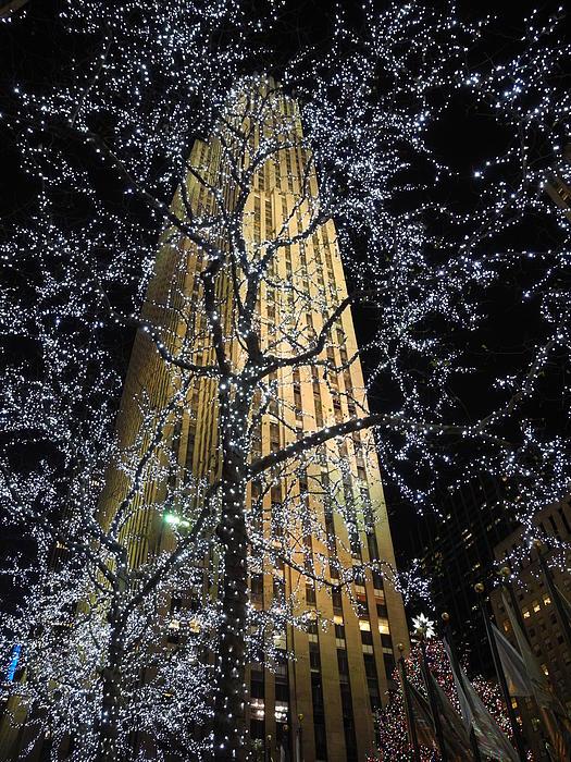 Rockefeller Center Christmas Print by David Halperin