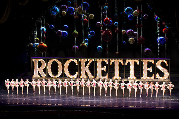 Rockettes At Radio City  Print by Carl Purcell