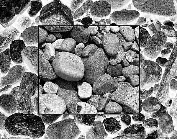 Rocks And The Opposite Print by Ron St Jean