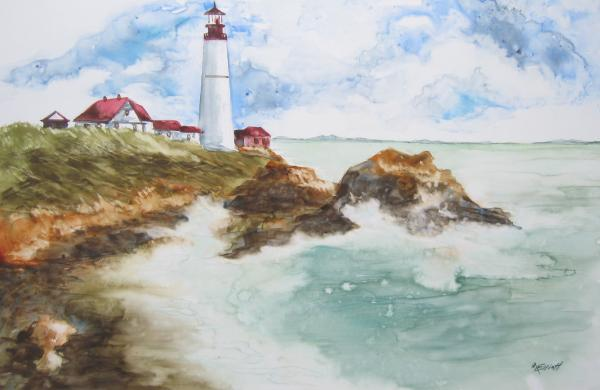 Rocky Coast Print by Marsha Elliott