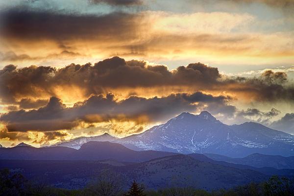 Rocky Mountain Springtime Sunset 3 Print by James BO  Insogna