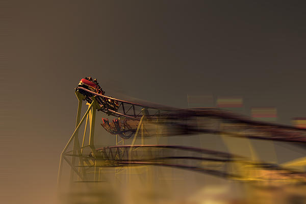 Rollercoaster Print by Douglas Barnard