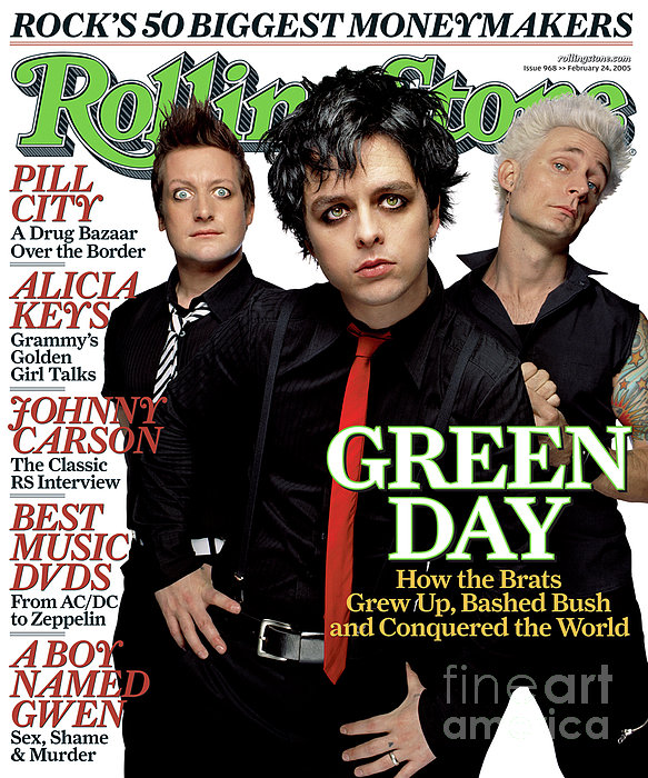 James Dimmock - Rolling Stone Cover - Volume #968 - 2/24/2005 - Green Day