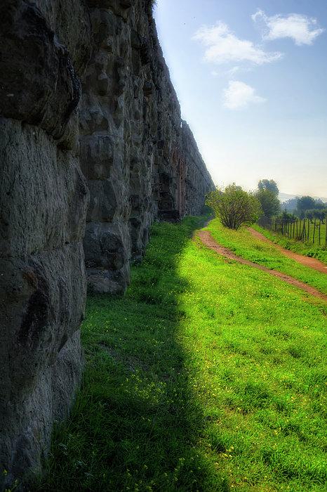 Roman Aqueducts Print by Joan Carroll