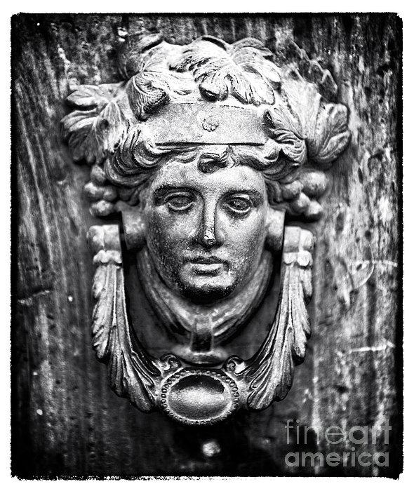 Roman Door Knocker Print by John Rizzuto