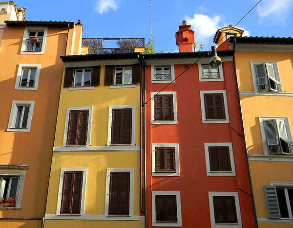 Roman Homes Print by Stellina Giannitsi Russell Pedri