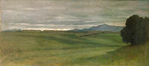 Roman Landscape Print by Antoine Auguste Ernest Hebert