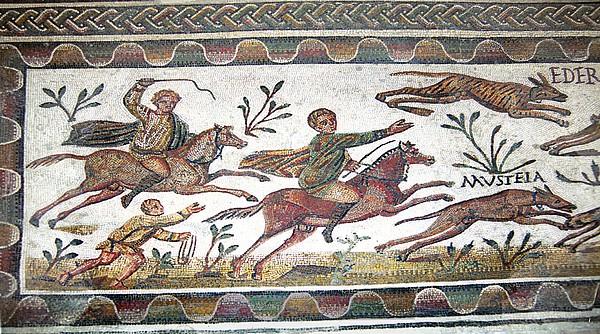 Roman Mosaic Print by Sheila Terry
