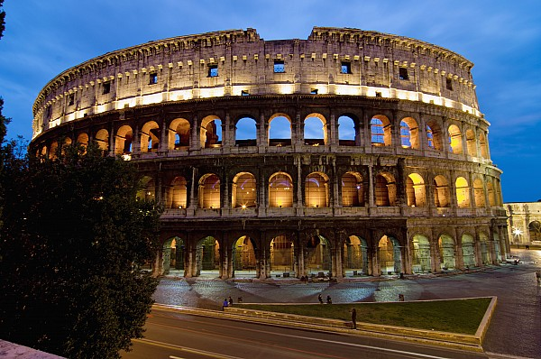 Rome Colosseum Dusk Print by Axiom Photographic