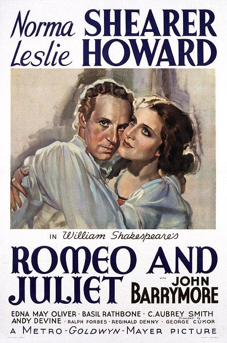 Romeo And Juliet, Leslie Howard, Norma Print by Everett