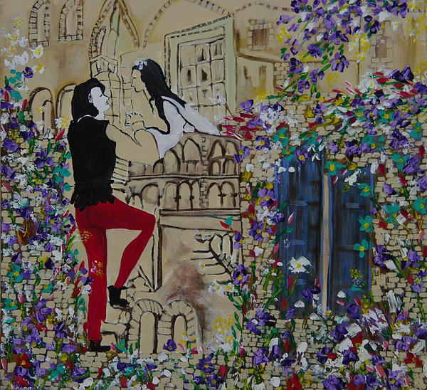 Romeo And Juliet. Painting  - Romeo And Juliet. Fine Art Print