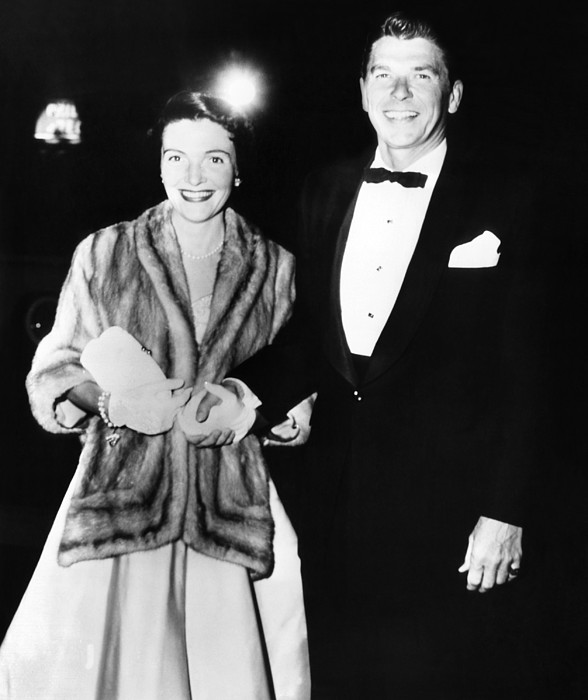 Ronald And Nancy Reagan Attended Print by Everett