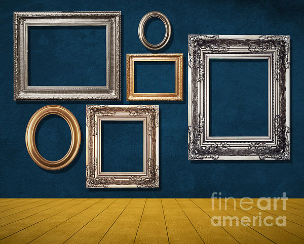 Room With Frames Print by Atiketta Sangasaeng